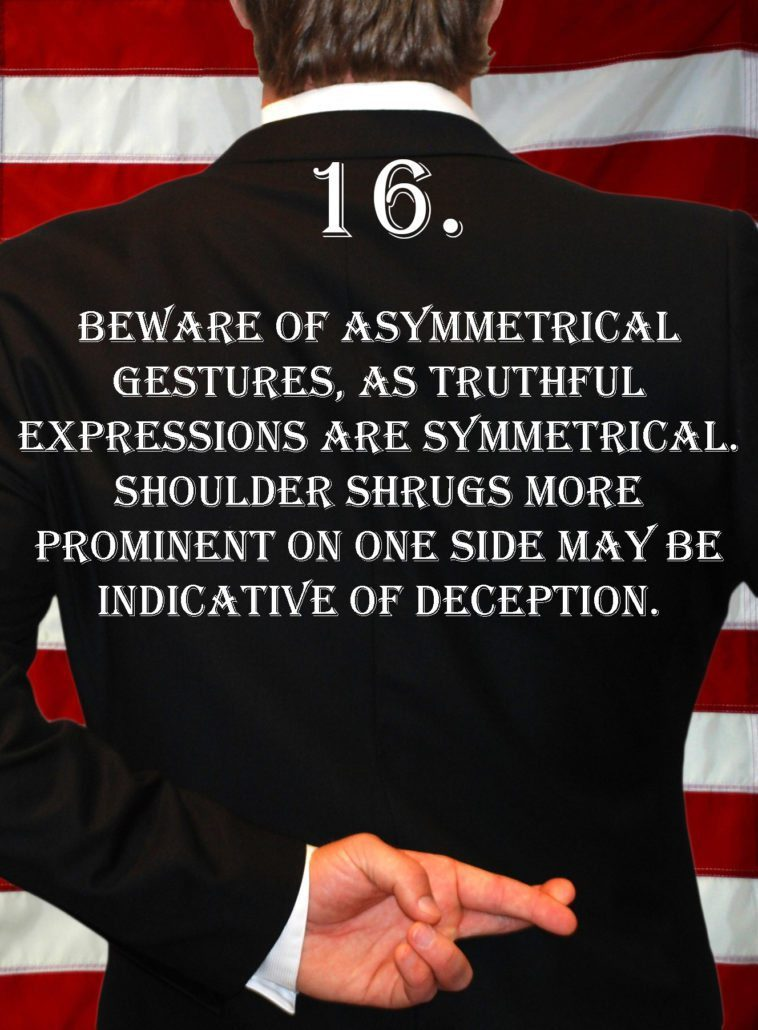 Deception Tip 16 - How To Detect Deception - A Guide To Deception
