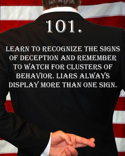 Deception Tip 101 - How To Detect Deception - A Guide To Deception