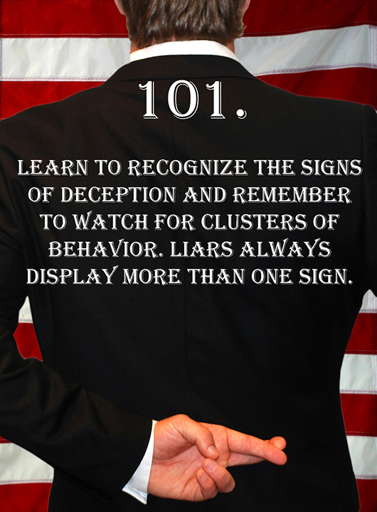 Deception Tip 101 - How To Detect Deception - A Guide To Deception - Author Spencer Coffman
