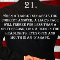 Deception Tip 21 - How To Detect Deception - A Guide To Deception - Author Spencer Coffman