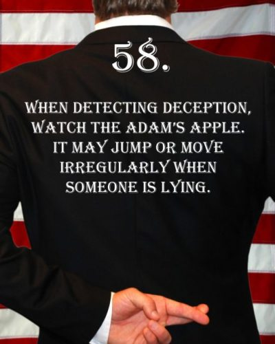 Deception Tip 58 - How To Detect Deception - A Guide To Deception