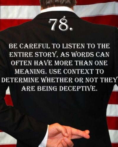 Deception Tip 78 - How To Detect Deception - A Guide To Deception