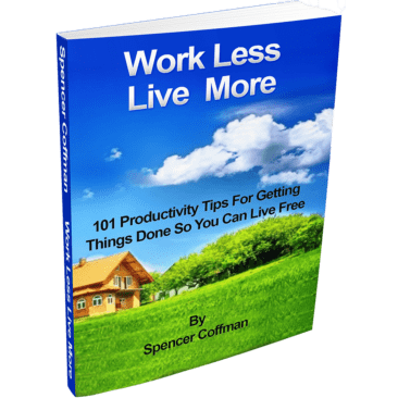 Work Less Live More 101 Productivity Tips For Getting Things Done Spencer Coffman