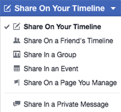 communicate on facebook share a post spencer coffman