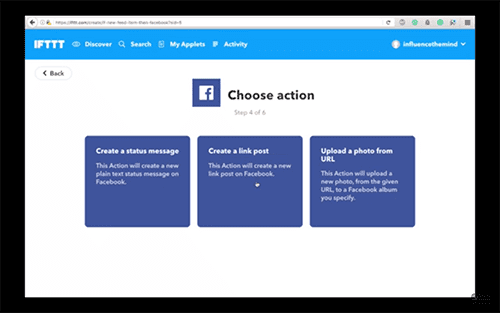 steemitvideos automatically share steemit post to facebook ifttt spencer coffman choose action